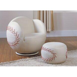 Superbe Knopf Kids Baseball Chair And Ottoman