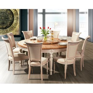 Drapeau Solid Wood Round Dining Table by ..