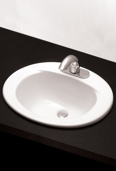 Toto Ceramic Oval Drop In Bathroom Sink With Overflow Reviews Wayfair