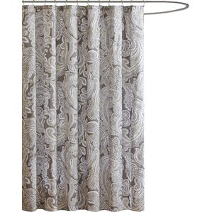 beige and gray shower curtain. Hixson Cotton Shower Curtain Gray  Silver Curtains You ll Love Wayfair