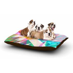 Miranda Mol 'Triangle Feast' Abstract Geometric Dog Pillow with Fleece Cozy Top