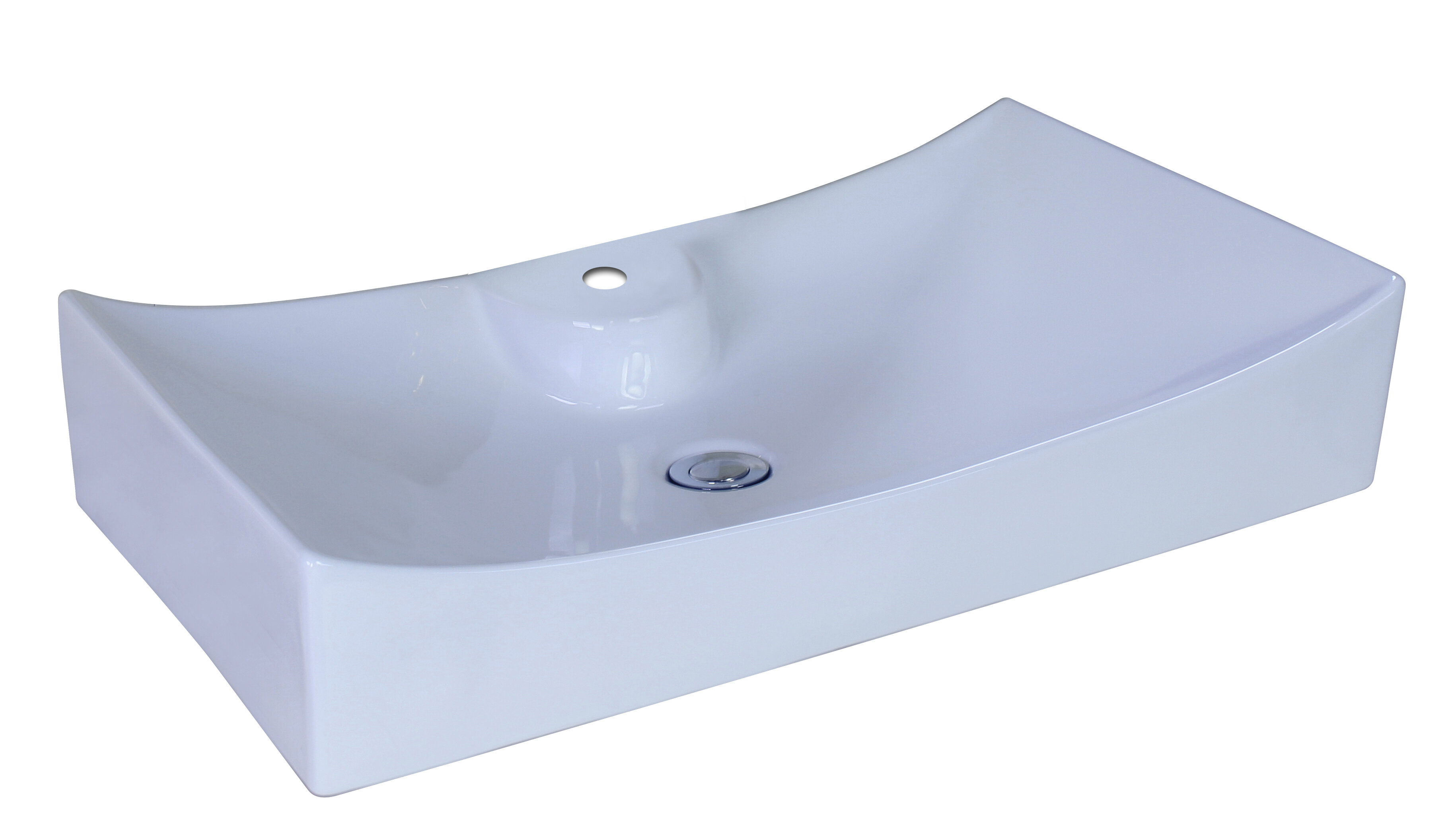 American Imaginations Ceramic Rectangular Vessel Bathroom Sink | Wayfair