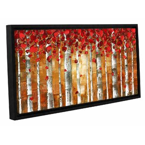'Red Birch' Framed Painting Print