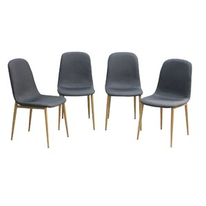 Romeo Skin Upholstered Dining Chair (Set of 4) by Corrigan Studio