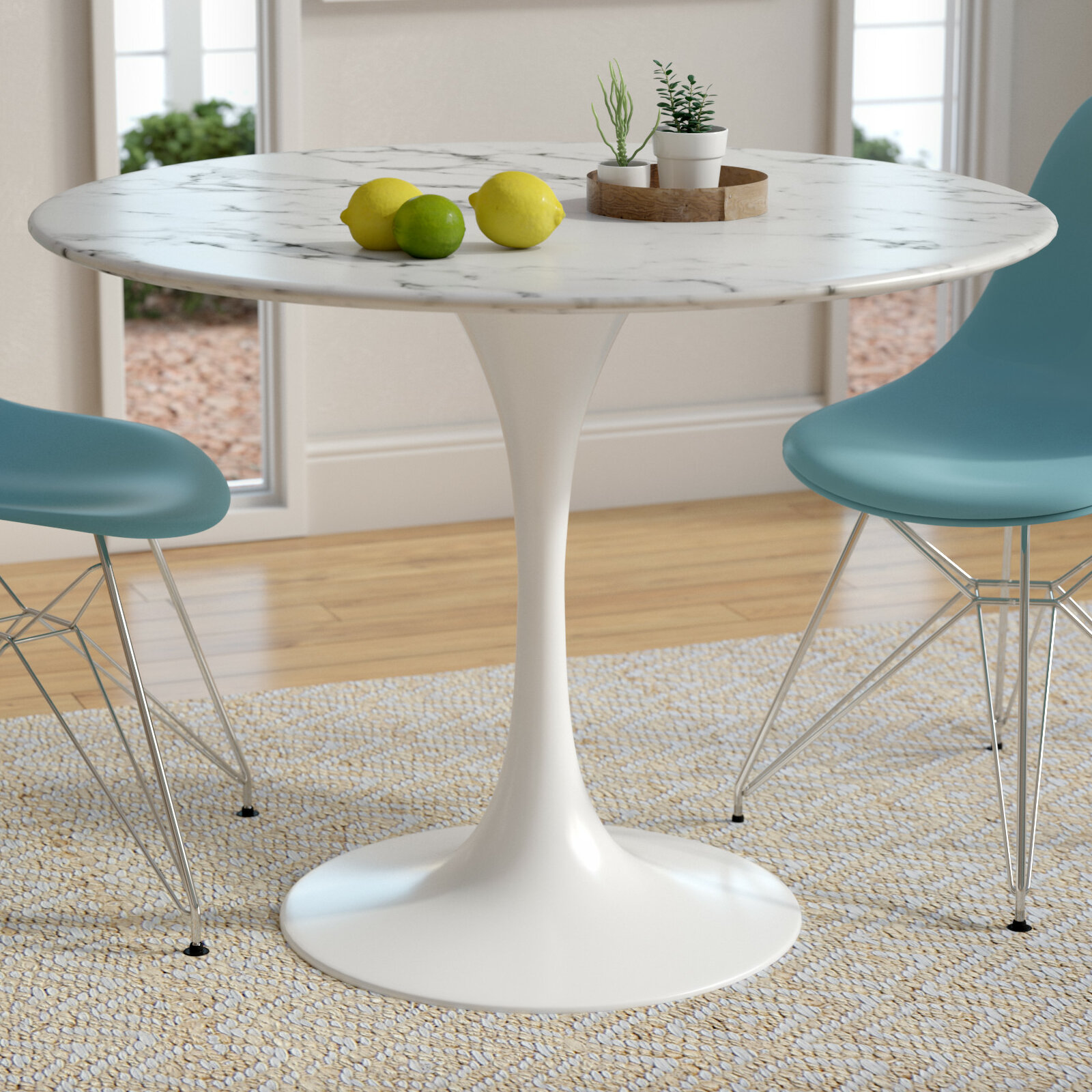 Langley street julien artificial marble dining table reviews wayfair