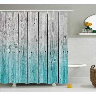 Rosy Digital Wood Panels Shower Curtain