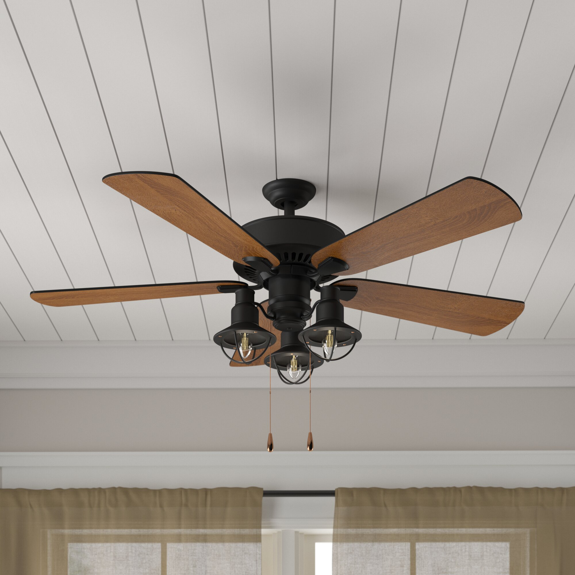 Ceiling Fans Youll Love Way Fan Always Hot Light Switched Wiring Done Right 52 Ravello 5 Blade Led Kit Included