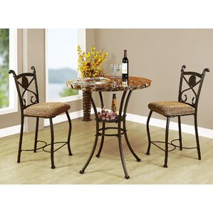 Mira Kleef 3 Piece Counter Height Bistro Set by ..
