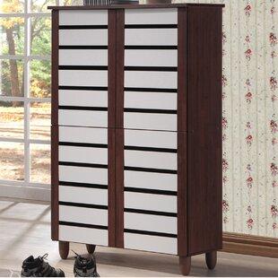 Brydon 18 Pair Shoe Storage Cabinet