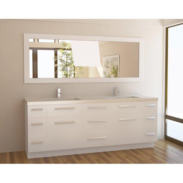 Mercury Row Arnette Double Bathroom Vanity Set With Mirror - Bathroom vanities bonita springs fl
