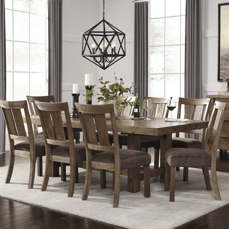 Brussels Traditional Dining Room Set 7 Piece Set: Loon Peak Etolin 9 Piece Dining Set & Reviews