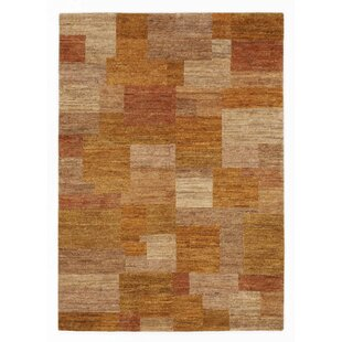 Paxton Hand Knotted Wool Orange Rug by Metro Lane