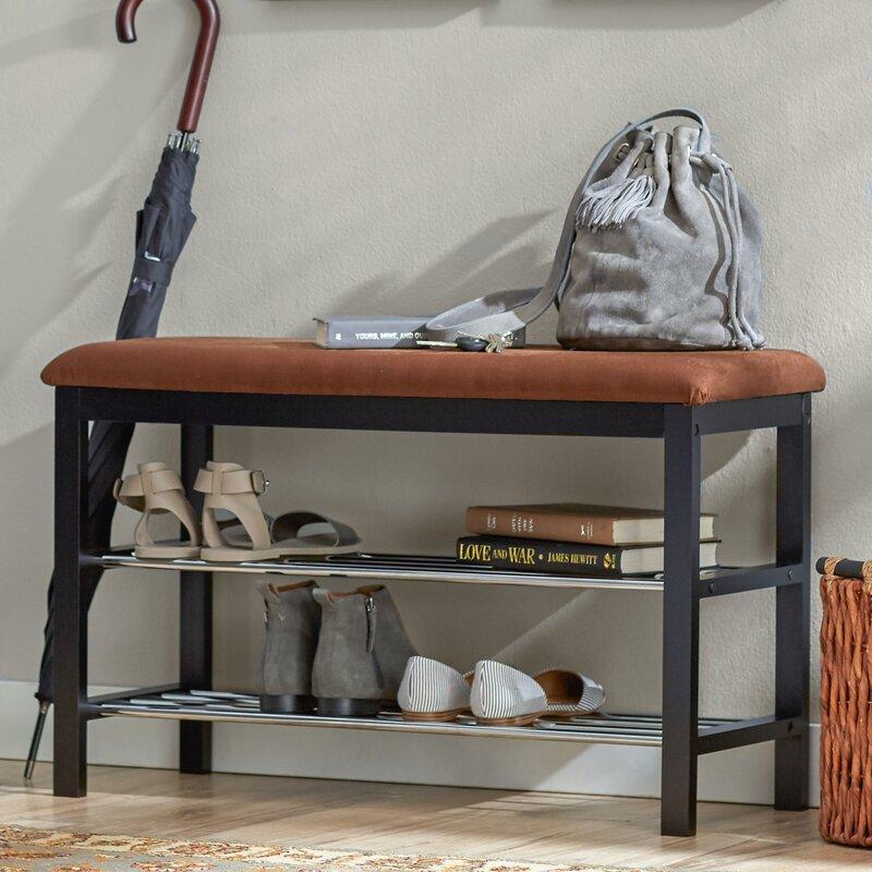 3523e16e04 Rebrilliant 8 Pair Shoe Storage Bench & Reviews | Wayfair
