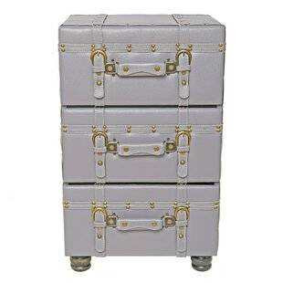 Charmant Mederos 3 Drawer Trunk Accent Cabinet