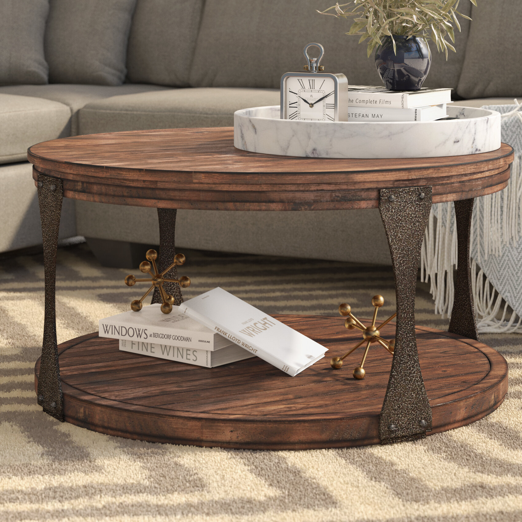 Aradhya Coffee Table Reviews Birch Lane - How to stain a coffee table
