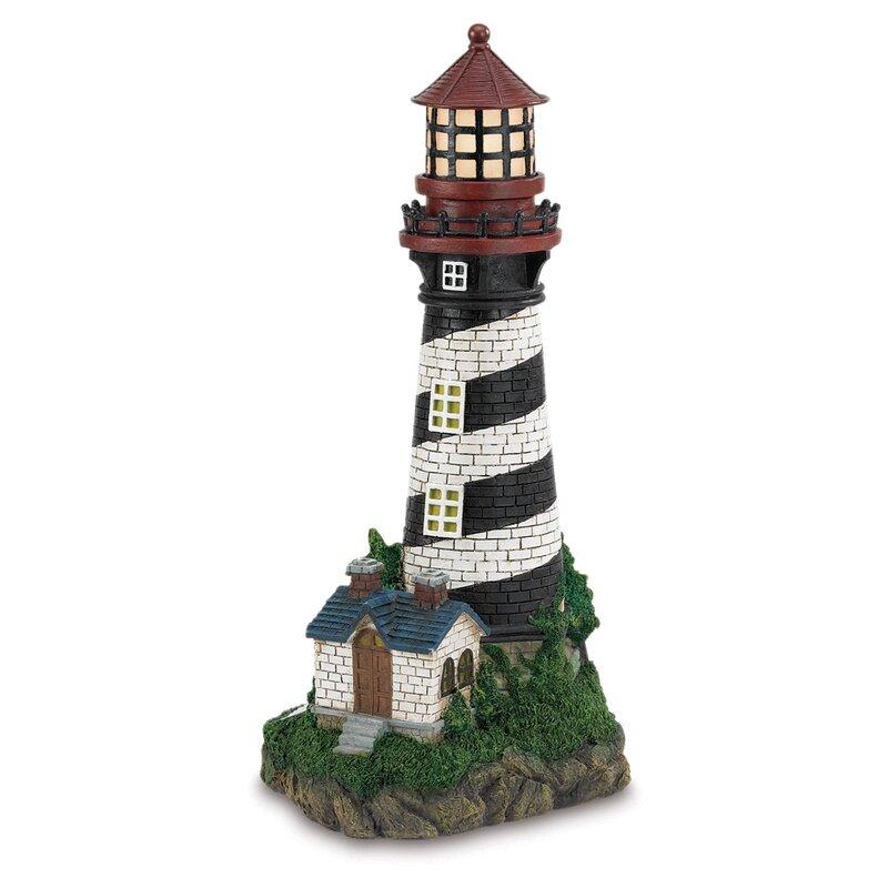 Groton Solar Powered Garden Lighthouse Decorative Lantern  sc 1 st  Wayfair & Breakwater Bay Groton Solar Powered Garden Lighthouse Decorative ...
