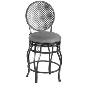 Bessie Swivel Bar Stool by Red Barrel Studio