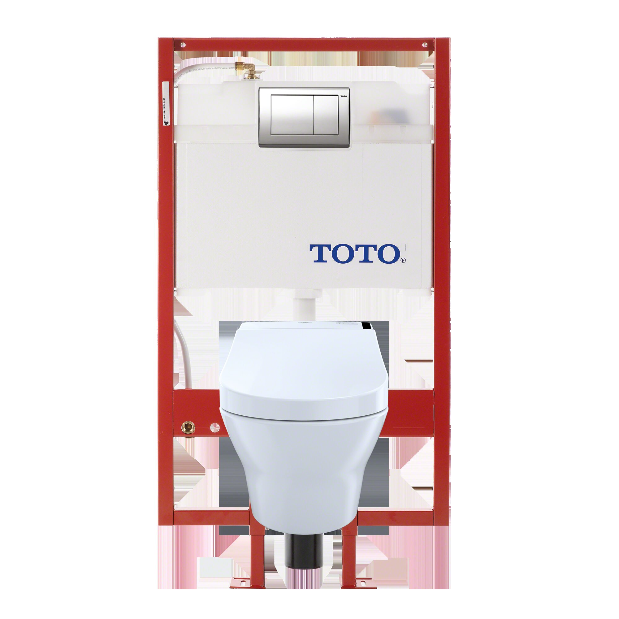 Toto MH Connect Dual Flush D-Shape Wall Hung Toilet with Tornado ...