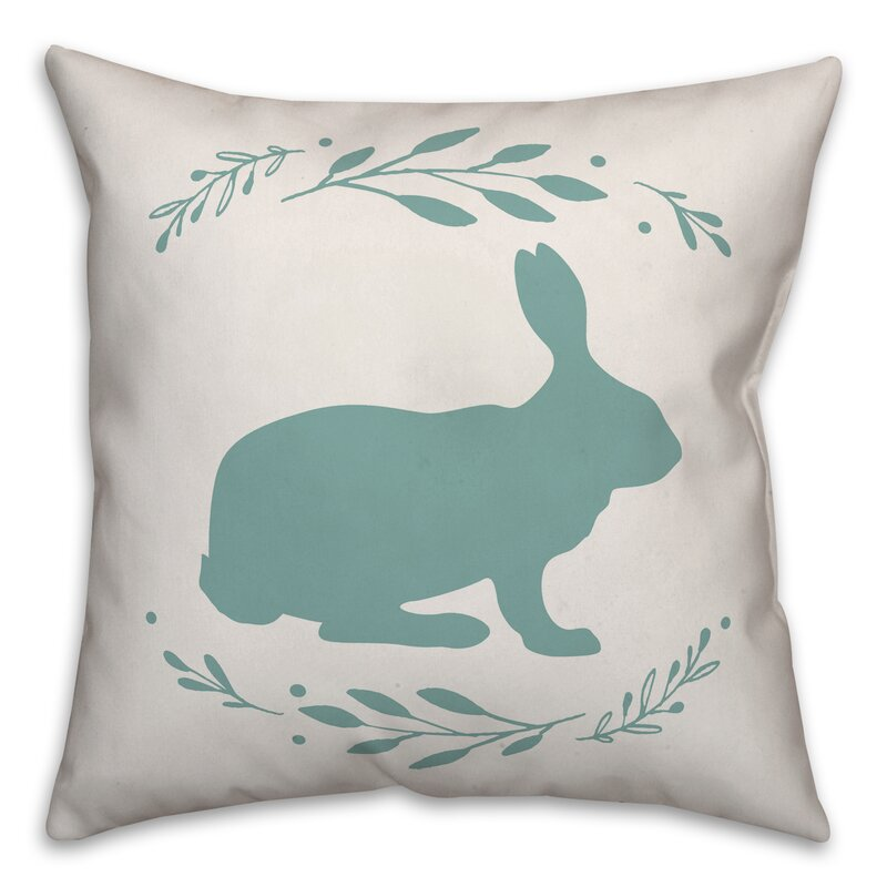 Rosalind Wheeler Elsha Bunny Silhouette Throw Pillow Wayfair