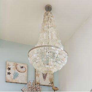 Sea shell chandelier wayfair manor capiz seashell 3 light chandelier mozeypictures Images