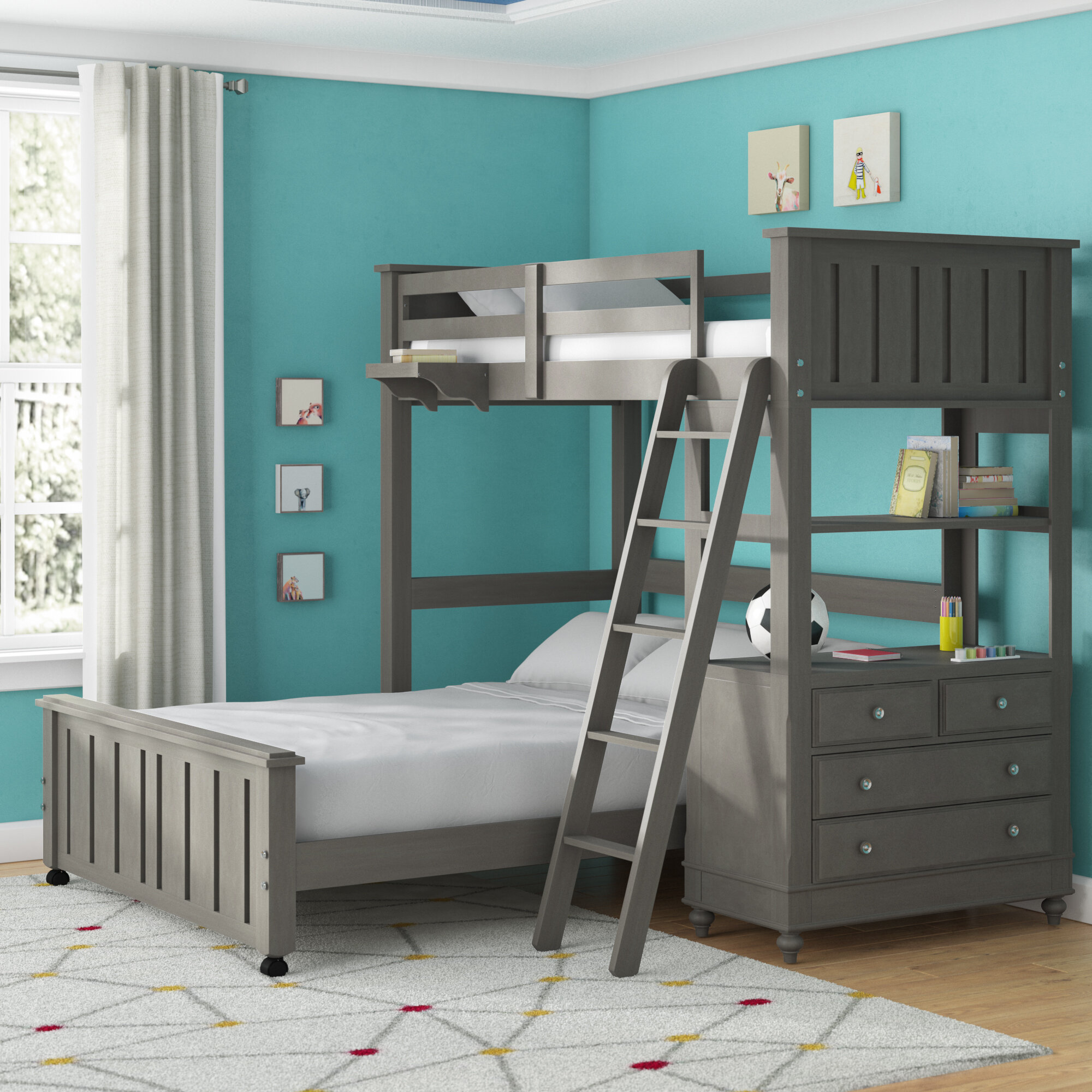 Etonnant Weatherspoon Twin Loft With Full Size Lower Bed