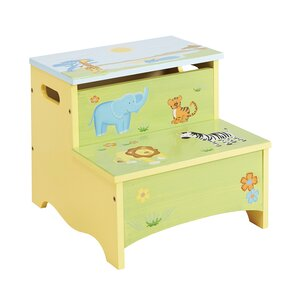 Savanna Smiles Kids Step Stool with Storage by Guidecraft