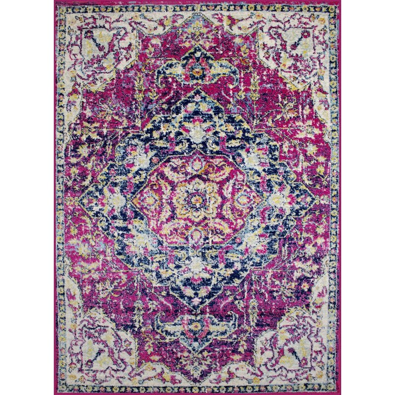 Bungalow Rose Pena Violet Area Rug, Size: Rectangle 110 x 211