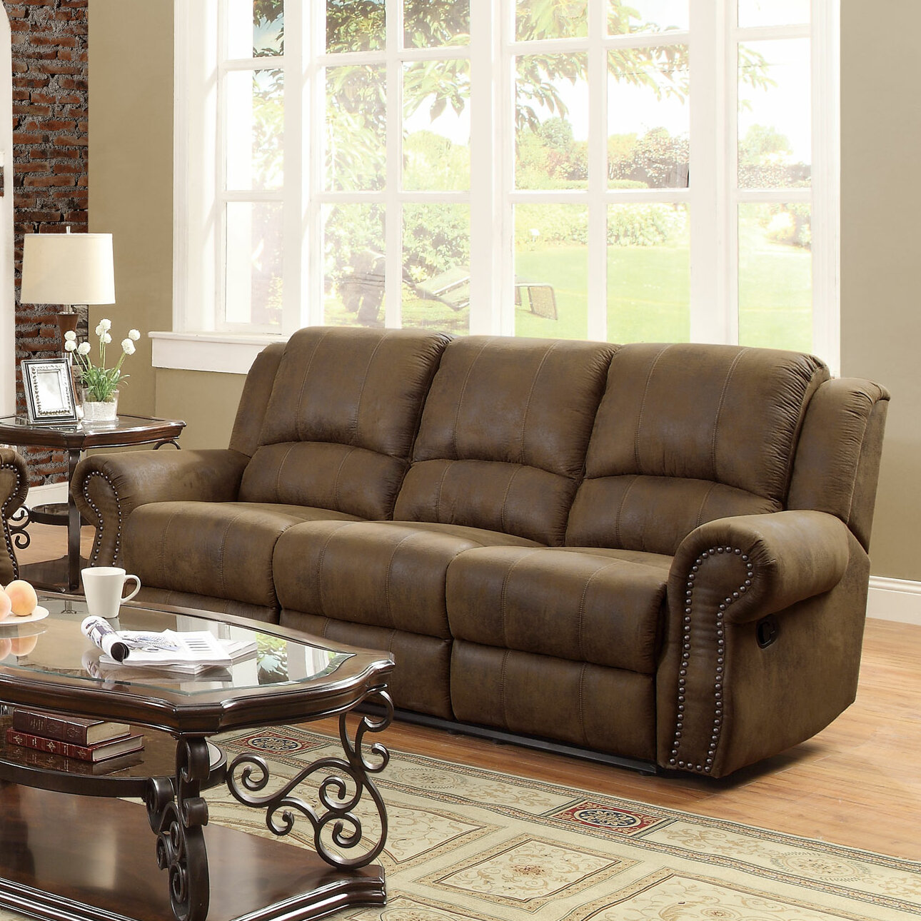 Darby Home Co Chamlee Reclining Sofa U0026 Reviews | Wayfair