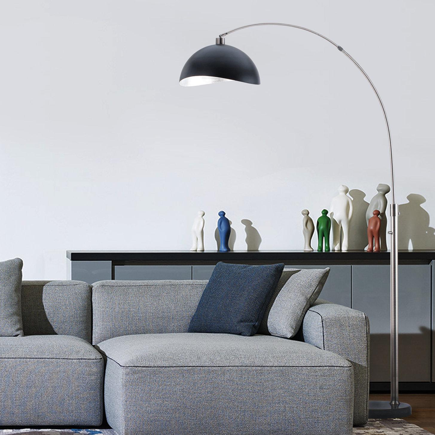 SHINE HAI LED Arc Floor Lamp Curved Contemporary