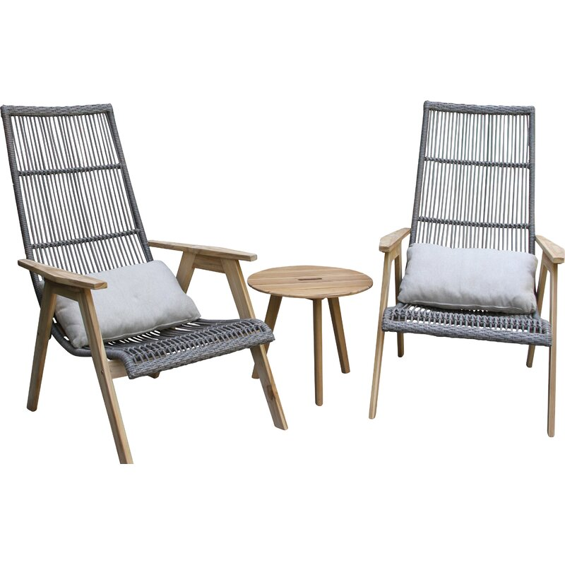 Largent Teak Patio Chair With Cushions Amp Reviews Allmodern