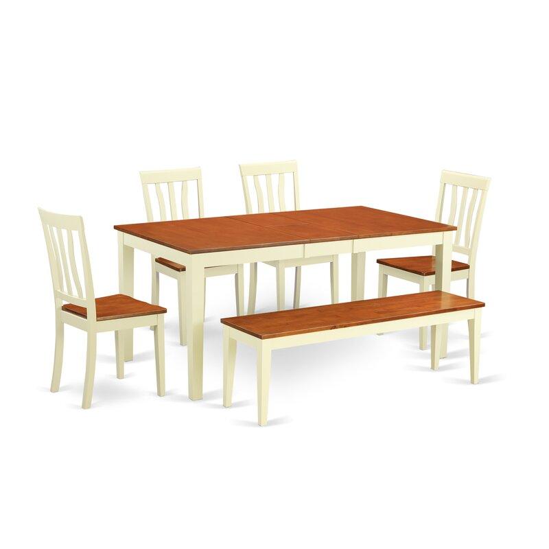 Wooden Importers Lynfield 6 Piece Dining Set: Wooden Importers Napoli 6 Piece Dining Set & Reviews
