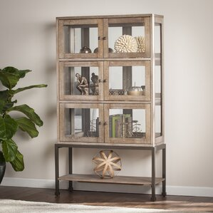 Pantin Lighted Curio Cabinet by Laurel Fo..