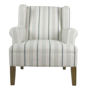 Blue Striped Accent Chairs Youu0027ll Love   Wayfair