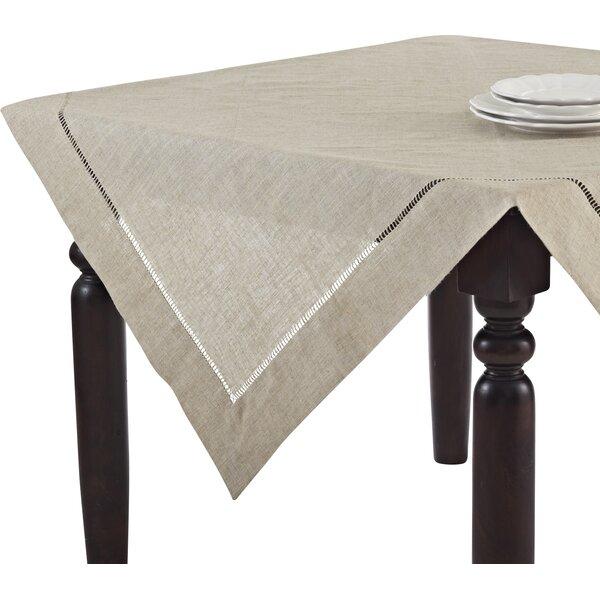 Laurel Foundry Modern Farmhouse Kitt Hemstitched Tablecloth U0026 Reviews |  Wayfair