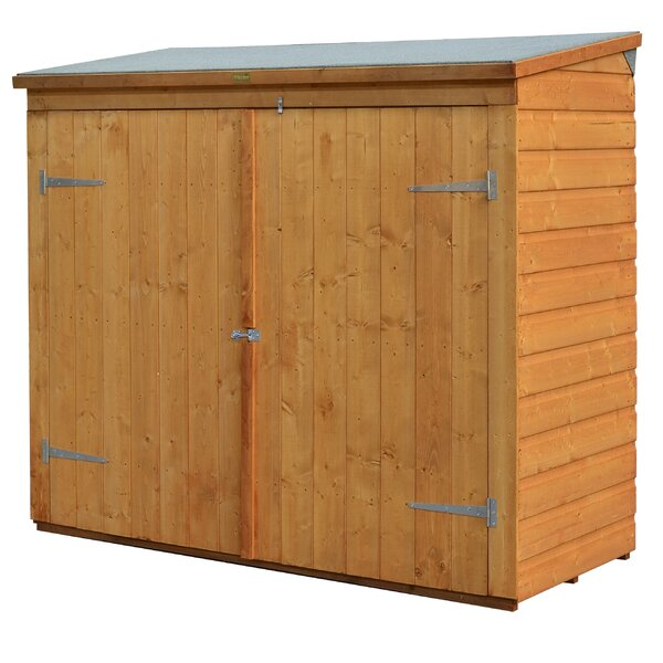 rowlinson 6 ft w x 2 ft 6 in d wooden vertical bike shed