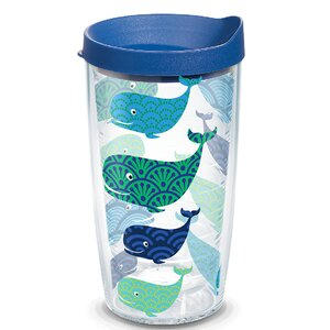 Sun and Surf Whale Insulated Tumbler