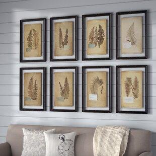 u0027Fernu0027 8 Piece Framed Graphic Art Set & Framed Wall Art | Birch Lane