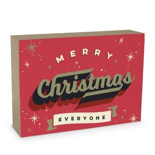 vintage christmas card decorative box