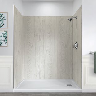 Cultured Marble Shower Base Wayfair - Composite marble shower walls