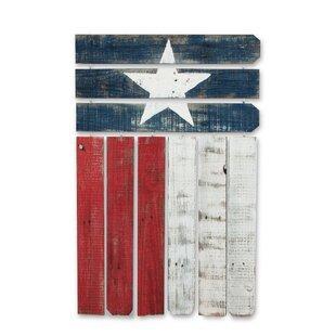 Natural Reclaimed Texas Flag Wall Decor