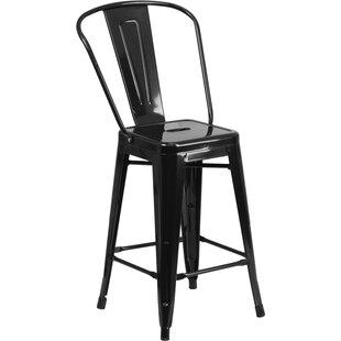 matte black metal bar stools wayfair