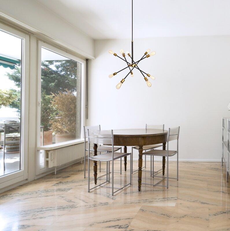 Burkley 10-Light Sputnik Chandelier & Reviews   AllModern