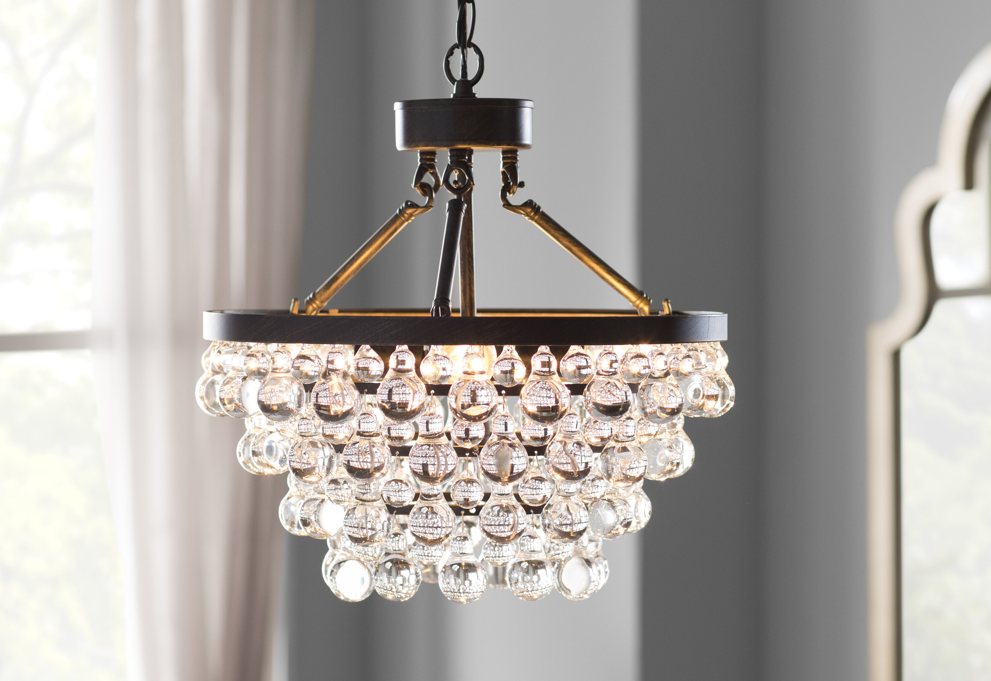 House of Hampton Mcmillen 5 Light Crystal
