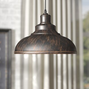 Hammered copper pendant light wayfair estella 1 light inverted pendant aloadofball Image collections