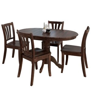 Liggett 5 Piece Dining Set by Three Posts