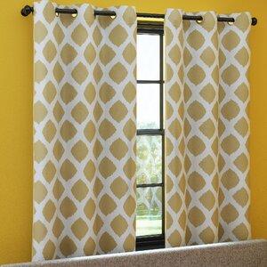 Coley Geometric Room Darkening Grommet Curtain Panels (Set of 2)