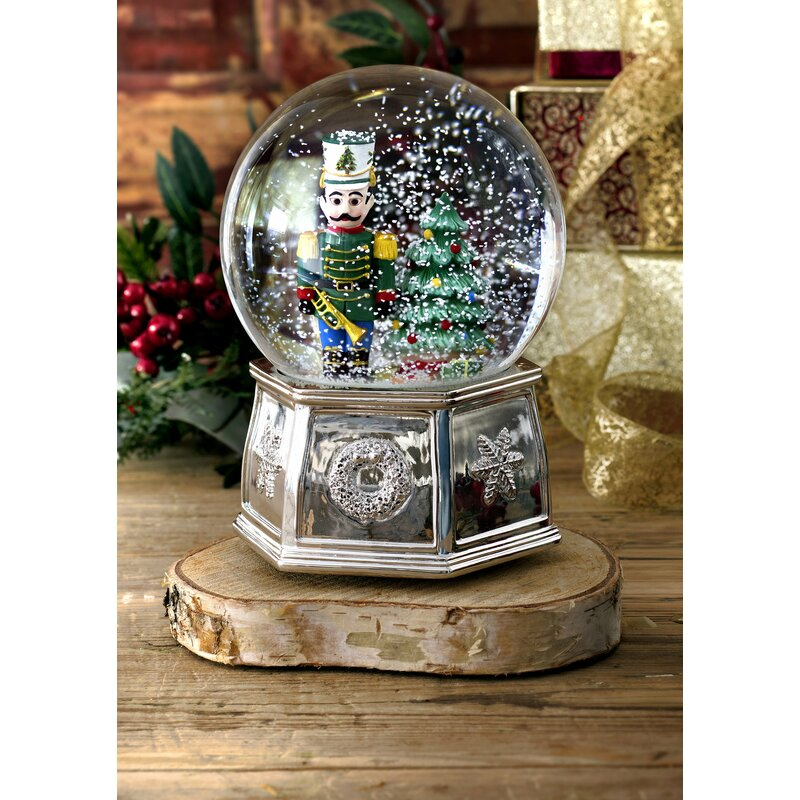 Snowing And Musical Christmas Tree: Spode Christmas Tree Musical Nutcracker Snow Globe