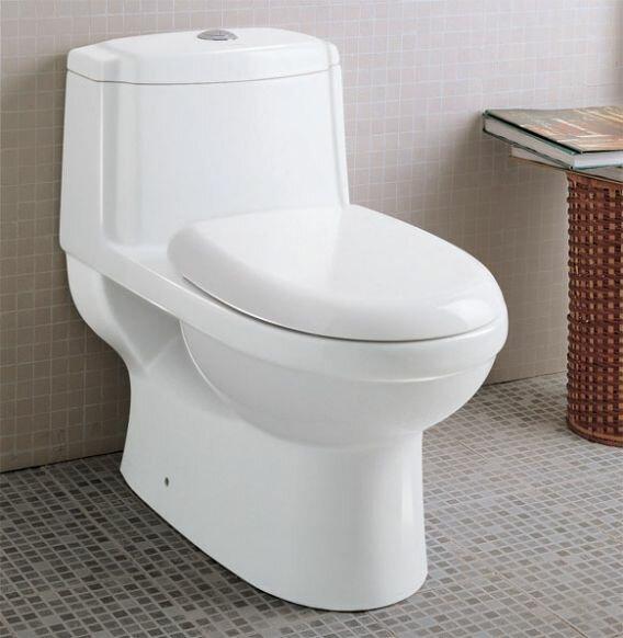 Eago Ceramic Dual Flush Elongated One Piece Toilet