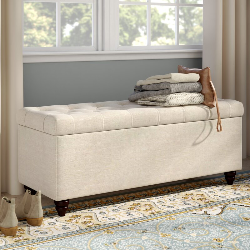 anner upholstered storage bedroom bench