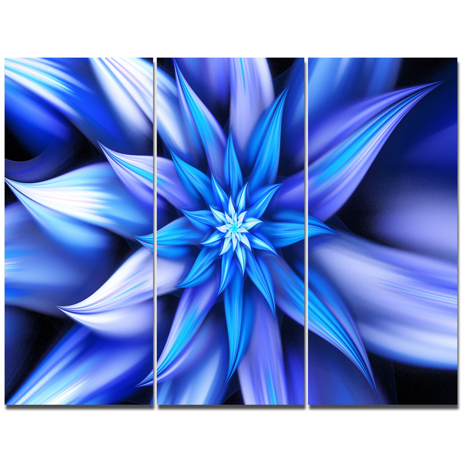 Designart dancing blue flower petals graphic art print multi piece designart dancing blue flower petals graphic art print multi piece image on canvas wayfair izmirmasajfo